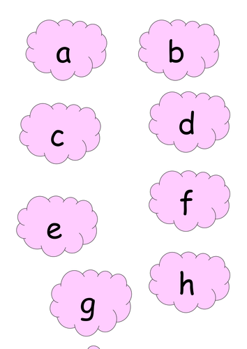 Match Capital Letters to Lower Case Letters