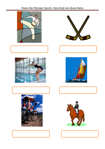 Olympic Sports to label and find out about