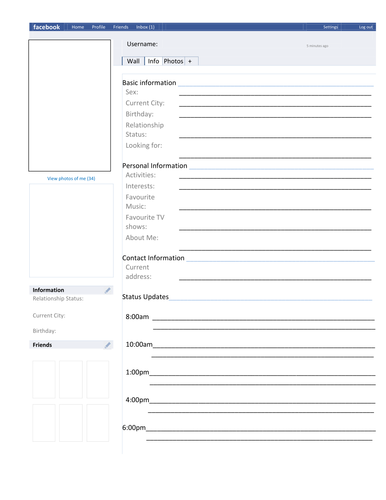 facebook page template character analysis by missrathor teaching