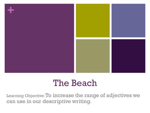 The Beach - Writing to Describe