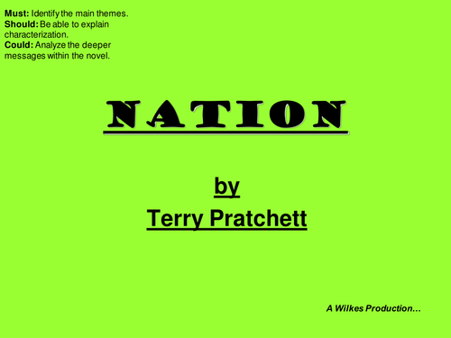 Nation Terry Pratchett Intro Lesson