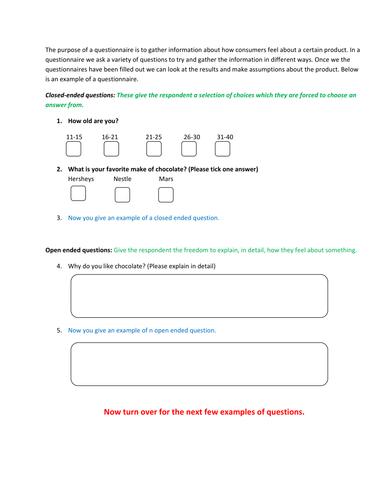 Media Moguls - Consumer questionnaire