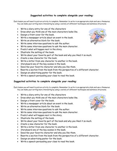 Literature Lesson Plan/Activity Sheet