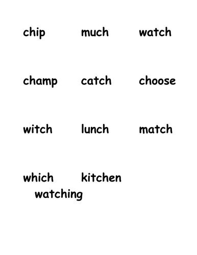 """""""Ch"""" words"""
