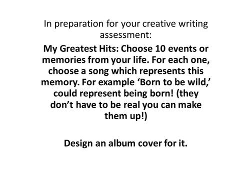 Creative Writing Lesson