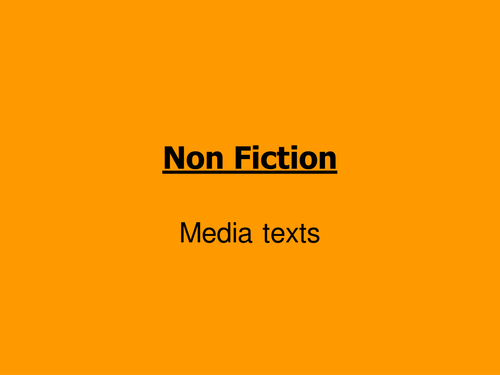 Introduction to non-fiction using adverts