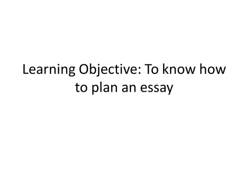 Romeo and Juliet Conflict Essay Plan Lesson