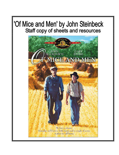 Of Mice and Men review Booklet - Teacher