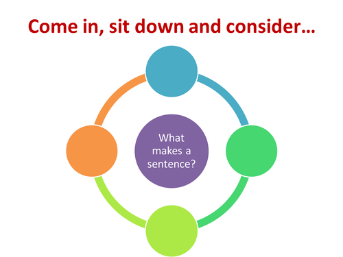 What makes a sentence? Literacy