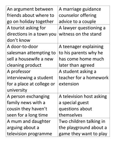 Verbal Techniques