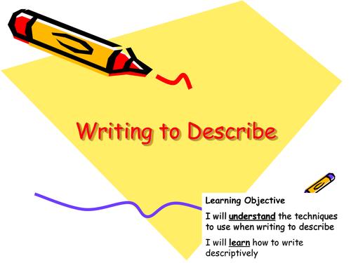 Writing to Describe Lesson