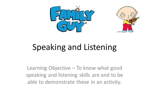 Introduction to Speaking and Listening