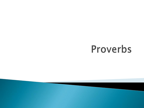 Proverbs PPT