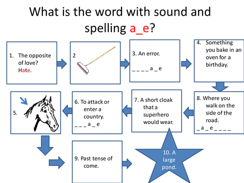 Spelling Task as Introduction to Lesson