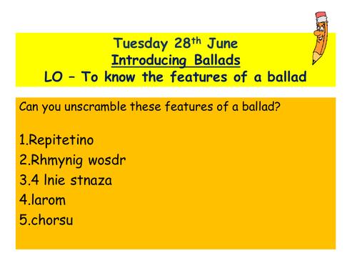 Ballads - Lesson 1