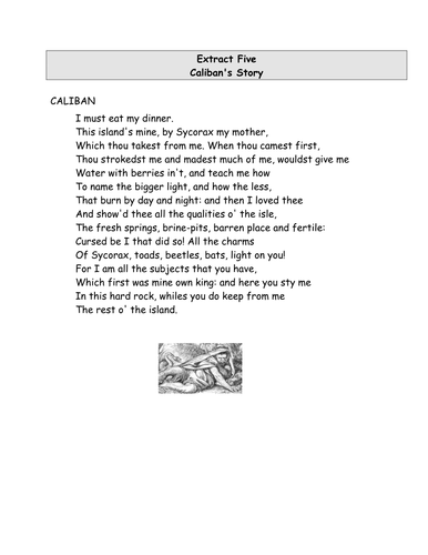 The Tempest - Calaban vs Prospero