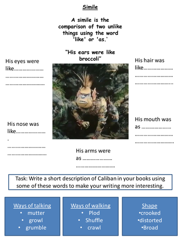 The Tempest - Literacy Sheet