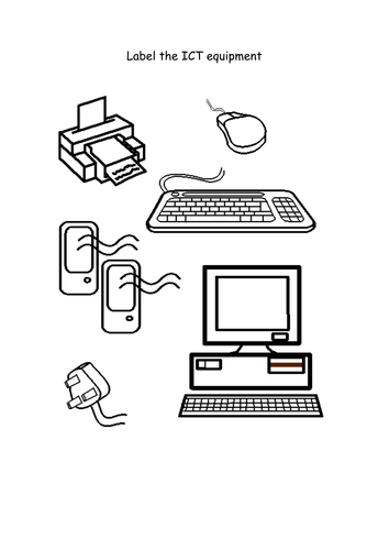 Label the Computer Equipment