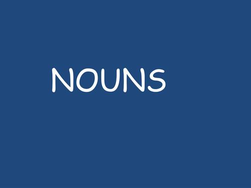 Understanding nouns