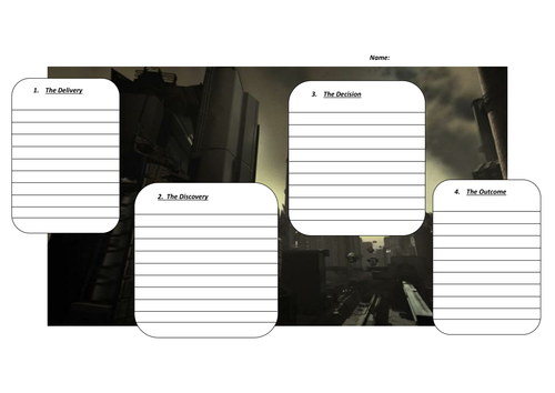 'The Delivery'  Writing Frame