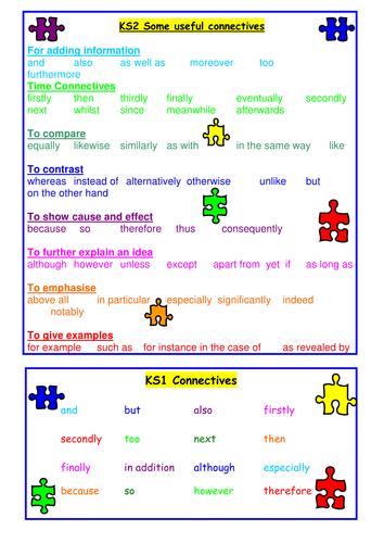 Connectives Sheet
