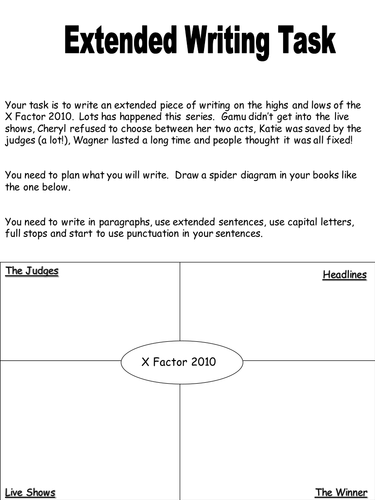 X Factor Extended Writing Task