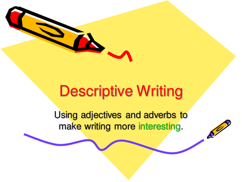 Using adjectives and adverbs to add detail.