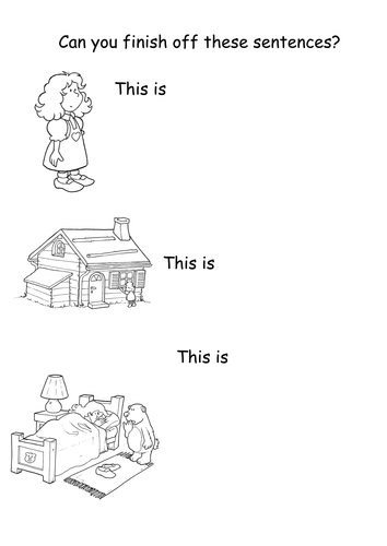 Support activities based on children's stories