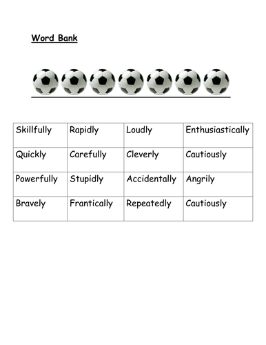 Outstanding Adverb Lesson - resource 3