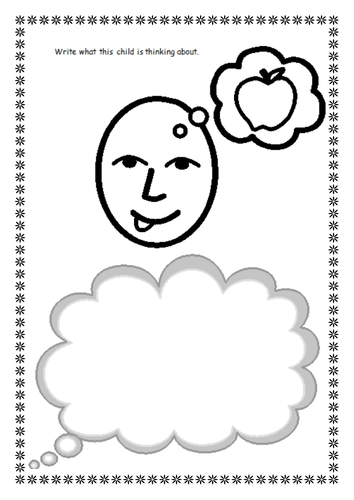 Speech Bubbles 'What am I thinking?'