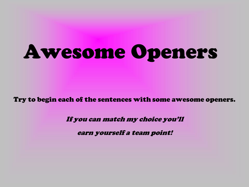 Awesome Openers