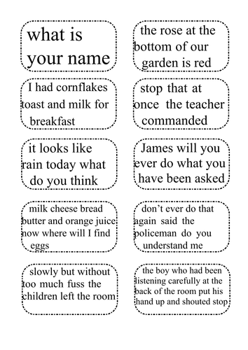 Punctuation Discussion Cards