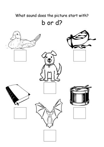 Letters B or D - handout