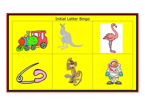Initial sound - Letter Bingo