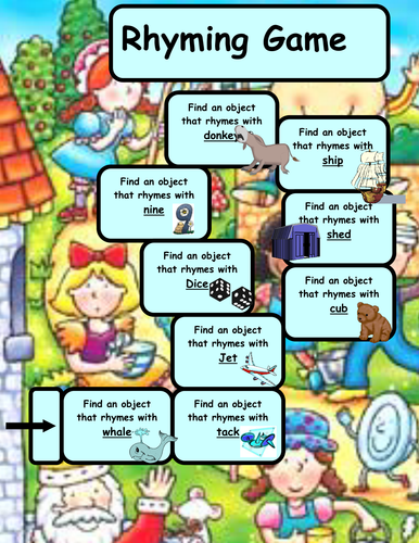 Rhyming Game Boards