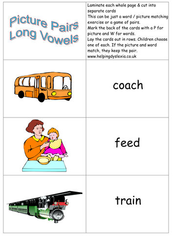 Phonic Resources for Vowel Digraphs and Teams