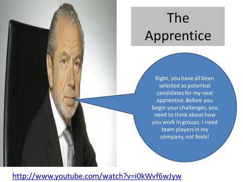 Apprentice unit - lesson 1