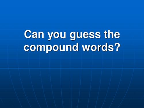 Compound words quiz (easy)