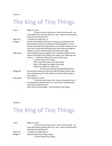 'The King of Tiny Things' drama plans