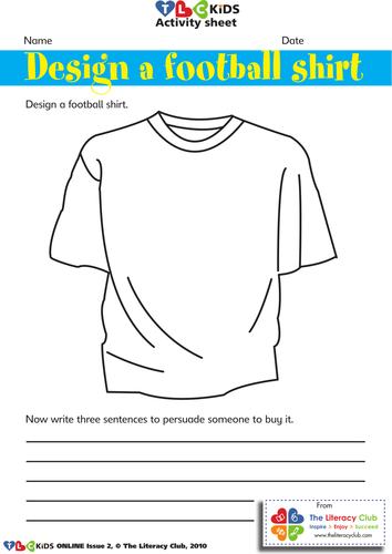 Design a soccer shirt