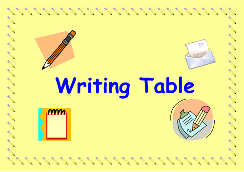 Writing Table Label