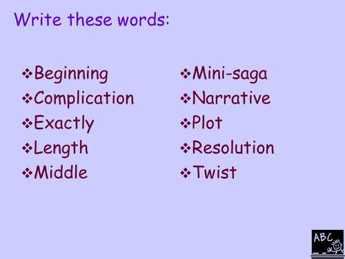 Writing a Mini-Saga