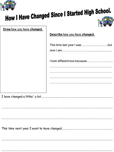 How I Have Changed student handout