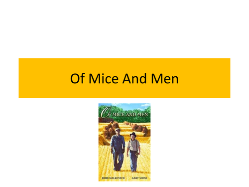 Character Development in Of Mice and Men