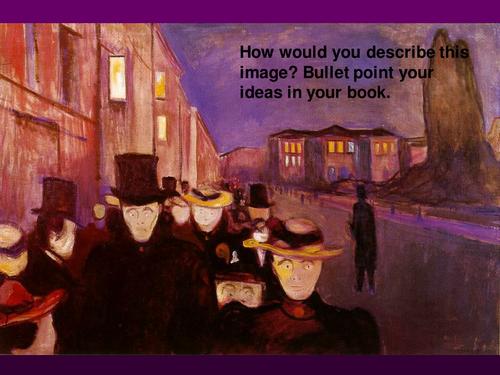 Poetic/figurative techniques lesson using Munch