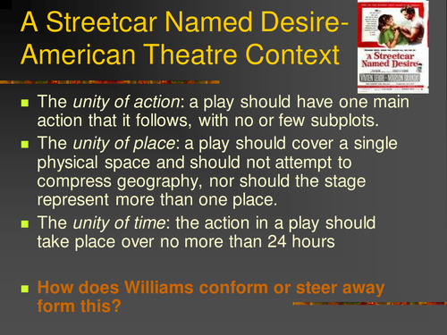 Introduction essay streetcar named desire