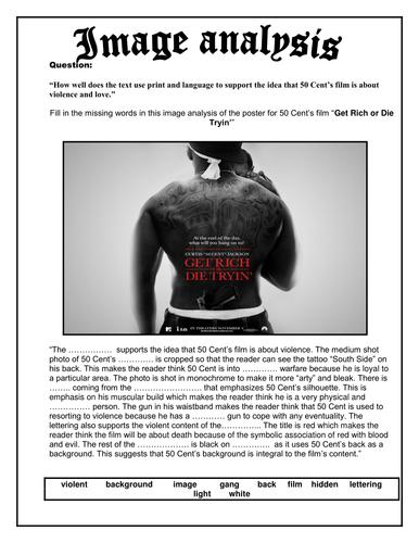 50 Cent Film Poster Image Analysis