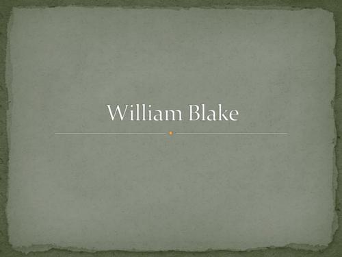 William Blake activities