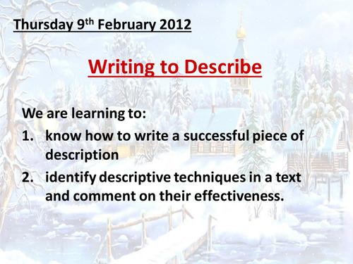 Writing to Describe - An Ideal Christmas