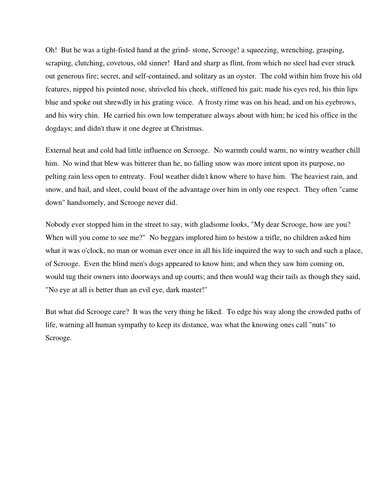 A Christmas Carol Lesson 3 - Meeting Scrooge